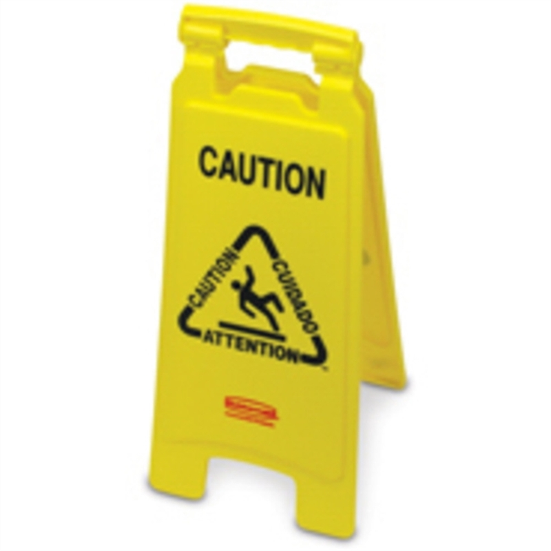 rubbermaidcommercial-products-schild-caution-wet-floor-3sprachig-gelb-druckfarbe-schwarz/rot