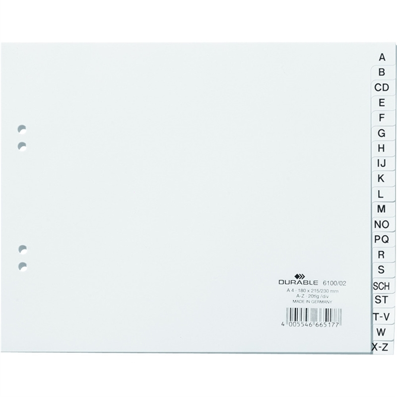durable-register-pp-a-z-2fach-lochung-60-/-80-mm-a4-halbe-hoehe-weiss