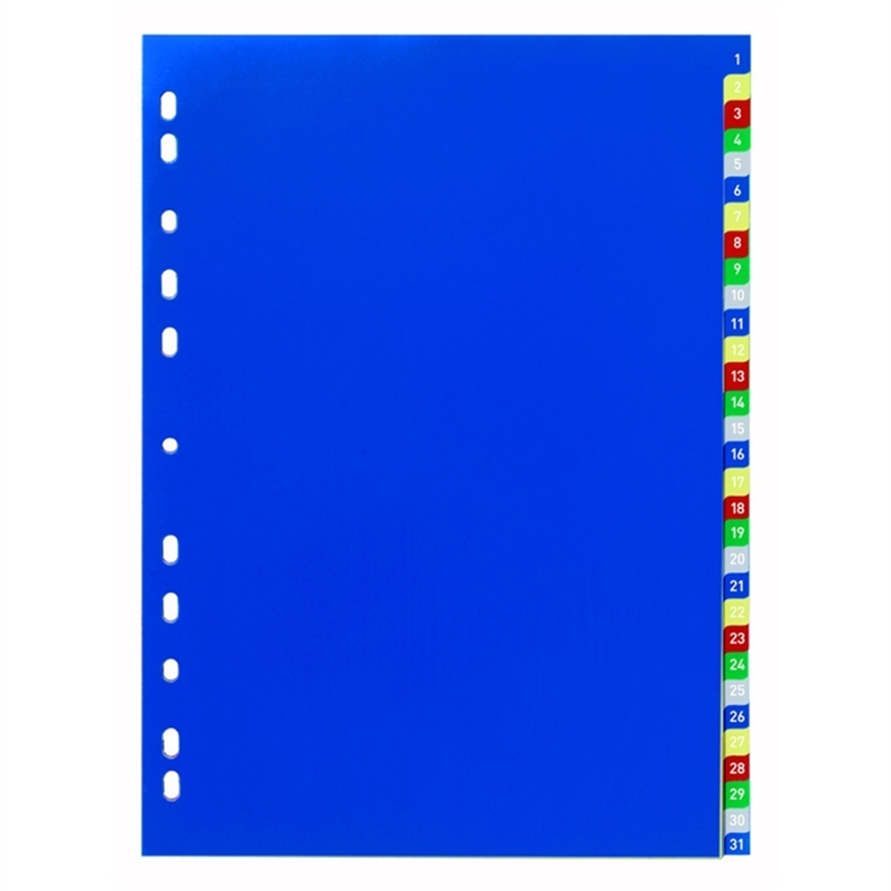 durable-register-pp-1-31-universallochung-a4-volle-hoehe-31-blatt-5farbige-tabe